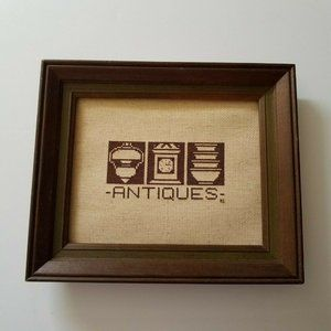 Other - Framed Antiques Home Decor Wall Hanging Sign